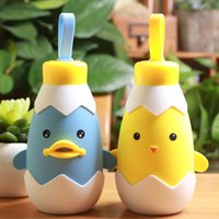 Wholesale Creative gifts cartoon cup chicken duck Mug Cup for children couple stainless steel cup