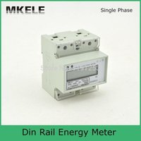 Wholesale 20 A V energy KWH meter calibration equipment electronic socket energy meter DIN Rail mounting energy meter MK LEM011JC