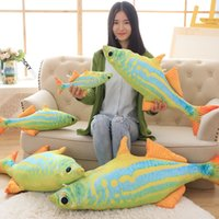 baby animals list - 40 cm Large Size Toys Kawaii list of aquarium fish Plush Toys coloured Sea Fish Cloth Doll baby pillow Soft Cushion New