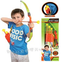 Wholesale outdoor kids arrow toy Pretty fun with three arrows archery bow and arrow shooting children s sports toys