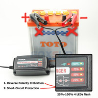 No automatic battery maintainer - 12V A Automatic Smart Battery Charger Maintainer Desulfator for Lead Acid Batteries Car Battery Charger V AC input