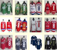 Wholesale Men s Alex Ovechkin Hockey Jersey Camo Dark Blue Green Red White Black Washington Stitched Jersey Top Quality Drop Shipping