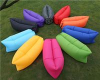 Wholesale New Fast Inflatable Camping Sofa banana Sleeping Bag Hangout Nylon lazy lay laybag Air Bed chair Couch Lounger Saco de dormir