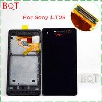 al por mayor xperia v lt25i lcd-Para Sony Xperia V LT25 LT25I pantalla LCD + pantalla táctil del digitizador con marco Asamblea 100% garantía