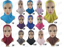 Wholesale New Arrival Full Cover Inner Cap Plain Jersey Double Criss Cross Ninja Islamic Hijab Hat Bonnet Muslim Headwear