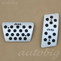 automatic pedal - AT Aluminum Foot Pedal Plate Brake Gas FOR Jeep Wrangler JK Automatic Interior