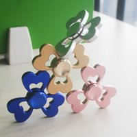 beautiful toys - 2017 Beautiful Clover Aluminum Alloy Fingertips Gyro Hand Spinner Toy Hand Spinners Finger Spinner Fidget Spinners Gyro EDC Focus Toys