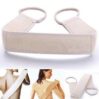 bath back support - Exfoliating Loofah Back Strap Bath Shower Helper Massage Scrubber Sponge Loofah Back Strap Support Body Skin Care