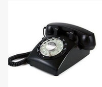 Wholesale Retro redial functions resin old landline telephone vintage antique novelty mini for home rotation telephone