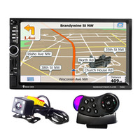 Wholesale 7020G Car MP5 Player with Rearview Camera Bluetooth FM GPS quot TFT Touch Screen Car Audio Stereo With Wheel Remote Control Russia Map Car dvd