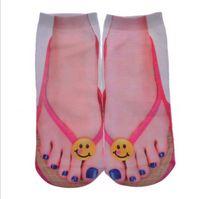 Wholesale pair d Printed Socks Women New Cute Low Cut Ankle Funny Sock New Fashion Unisex Casual Cotton Cute Emoji Socks