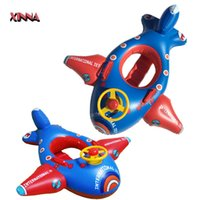 Wholesale New Kids Swim Pool Swim Ring Toy Aircraft Inflatable Float Toys Life Ring Buoys Lifebuoys Air Mattress Boy Life Swim Ring Swimming Buoy
