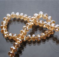 Wholesale 18 Colors mm Rondelle Austria Faceted Crystal Glass Beads Loose Spacer Round Beads for Jewelry Making
