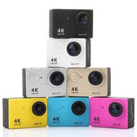 Precio de Camera underwater-Cámara de la acción de la cámara de 4K WIFI EKEN Ultra HD 4K WiFi 1080P / 30fps 2.0 lente de la lente del LCD 170D Cámara impermeable subacuática de la leva