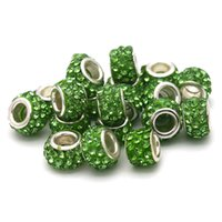 Wholesale 100pcs DIY Crystal Beads Charm for Making Tewelry Spacer Bead Fit For European Bracelet Necklace Pendant