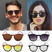 Marcos al por mayor España-Venta al por mayor- [LvDing] hombres de las mujeres redondas de metal espejo marco gafas de sol gafas de sol unisex