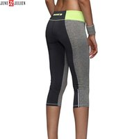 activewear capri - New Women Leggings With Zippers Causal Fitness Capri Legging Pants Reflective Leggins Lady Workout Trousers Quick dry Activewear