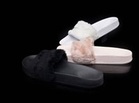 Wholesale Rihanna Fenty Slides With Original Boxes Leadcat Shoes White Grey Pink Black Blue Red Womens Slippers Indoor Sandals Girls Fashion Scuffs