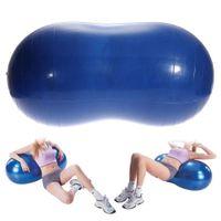 Wholesale Anti Burst Yoga Ball Peanut Shape Fitness Exercise Health Sports Gym Colorful x35cm Durable