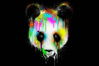 best panda pictures - Living Room Wall Art Multicolored Panda Oil Painting Picture Printed On Canvas Wall Picture Best Gift