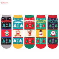 acrylic snowflake - Big Discount NEW Women Socks Autumn Winter Woman Snowflake Deer Warm Foot Sock Christmas Gift Cotton Socks Hot Sale BD002