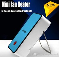Wholesale Newest Fashion Portable Mini fan heater hand Electric Air Warmer Heating Winter Keep Warm Desk Fan for Office Home