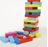 Wholesale Montessori Baby Kids Toys Jenga Blocks Pieces Learning Educational Preschool Training Brinquedos Juguets