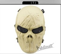 H0855178 CS Cráneo Esqueleto Full Face Tactical Paintball Proteger Seguridad Terror Mask Halloween Cosplay Dress Máscara Jagged horror aderezos