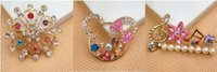 Wholesale The explosion of mobile phone accessories selling shell small colorful flowers colorful butterfly Rhinestone Jewelry alloy styles