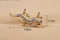 Wholesale Gecko Ear cuff golden and old silver color animal earring Factory Promotion Price LM C305