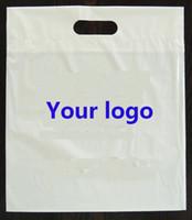 Las ventas al por mayor 500pcs / lot al por mayor personalizaron la impresión de la insignia de la compañía que empaquetaba bolsos de compras de empaquetado plásticos