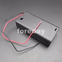 aa switch box - PC X AAX2 EQUIV EM X2 Battery Holder Packs Box Case With Switch V mm Leads Cover AA V V mm mm mm NEW FD488