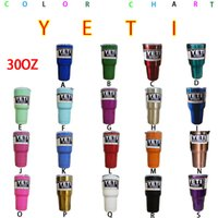 Wholesale 19 Color Custom Color Yeti Rambler Tumbler Cup oz Yeti Tumbler Stainless Steel Double Wall Vacuum Insulated Cup Travel Mug IN STOCK