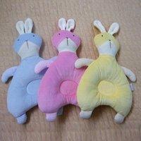 Wholesale New Born Memory CottonSlow Rebound Velvet Cartoon Rabbit Pillow Cotton Baby Pillow baby pillows Colors Soft Bedding Pillows
