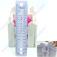 aluminum rulers - UK US Canada Gauge Inch cm Ruler Tool All In One Knitting Needle Sizes
