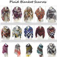Wholesale Women s Plaid Scarf Cozy Oversized Tartan Tassel Scarf Fashion Wrap Grid Shawl Check Pashmina Cashmere Lattice Neck Stole Blanket B920