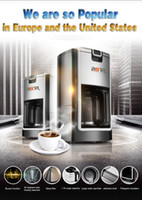 Wholesale Commercial and home semi automatic coffee machine W pump L coffee maker American Style Semi Automatic Hot Drinks Maker and tea maker