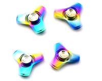 2017 triangle rainbow fidget spinner alliage de titane tri-Bar fidget spinner toy Professionnel EDC stress release toy Hand Spinner qualité supérieure