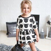 Wholesale 2016 New Infant Toddler Little Bear Dress Europe Fashion Cute Children s Cotton Dress Package Mail
