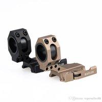 achat en gros de rapide portée de montage de presse-Tactical Quick Release Cantilever Scope Mount 25mm 30mm Ring Riflescope Laser QD Mount Auto Lock Picatinny Weaver 20mm Rail
