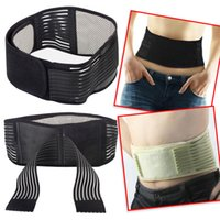 Wholesale 50pcs Adjustable spontaneous Heating Lower Pain Relief Protection Magnetic Therapy Waist Brace Support Lumbar Brace Belt Back