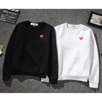 Wholesale new brand CDG PLAY gold hearts embroidered men long sleeve t shirt cotton tshirt t shirt Japanese