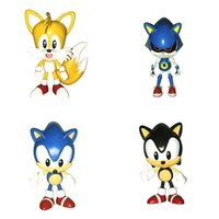 action games flash - 4pcs set Game Blue Black Yellow Sonic the Hedgehog Action Figure Fox Tails Ultimate Flash Model Anime Doll For Boys Kids Toys