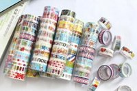 Wholesale 2016 Stationery tape cartoon color tape adhesive tape pvc mm w5
