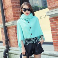 Wholesale Han edition of the new solid color double sided tassel imitation cashmere scarf joker female fresh students changed qiu dong female shawl