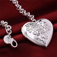 bars giving - 2016 New plated silver chain with heart charm to express forever love for Christmas Gift given woman and man on