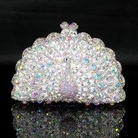 aqua clutch bags - Aqua Crystal Peacock Evening purse clutch bag handbag case IN