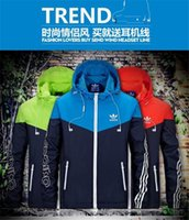 active coupling - Fall Hot Men Spring Autumn Thin Jacket Coat Men and women sports windbreaker jackets explosion Black models Windrunner jacket couple