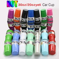 Wholesale 20 Colors Yeti Tumbler Rambler Beer Cup oz oz Yeti Cups Stainless Steel Double Wall Vacuum Insulated Travel Mug with lid IN STOCK
