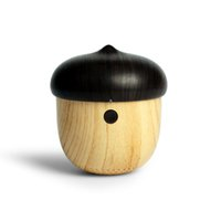 2.1 backpack audio - TTLIFE Bluetooth Portable Mini Speaker Cute Wooden Nuts Shape Unique Design Outdoor Loudspeaker For Mobile Phone Backpack Travel